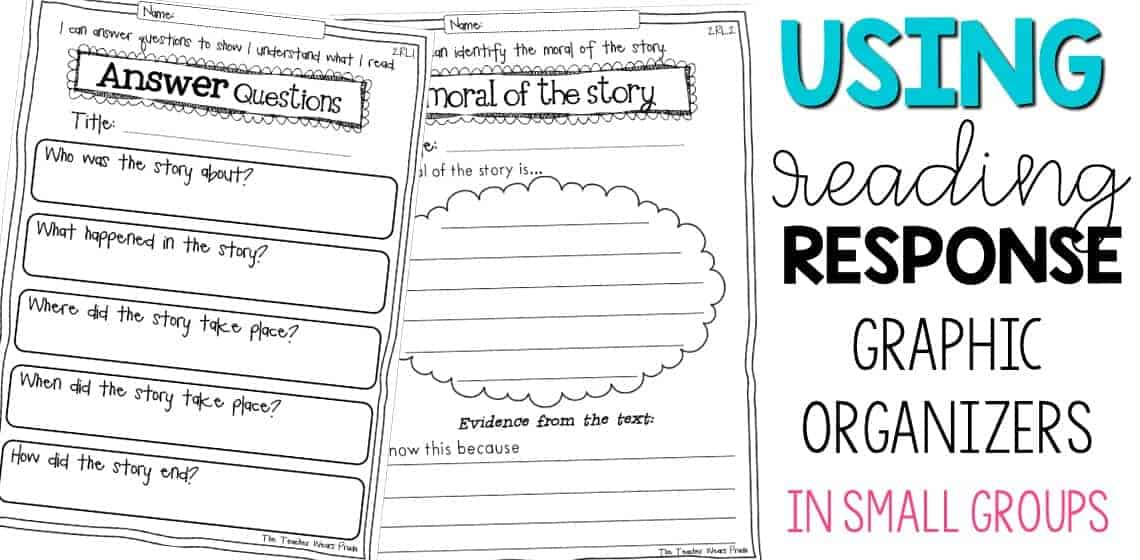reading response graphic organizers for reading response questions