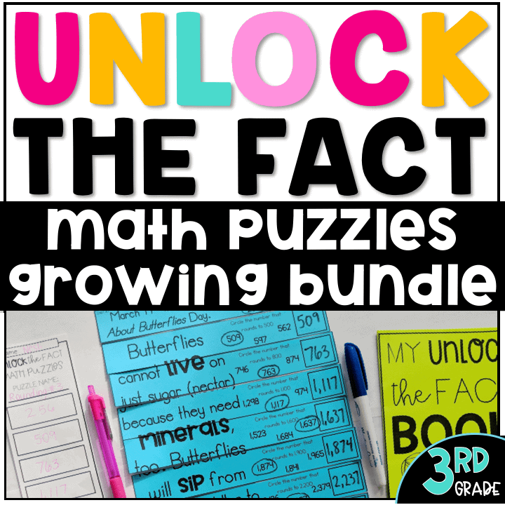 These 3rd grade math center activities are perfect for guided math rotations! These engaging math puzzles can be used for math stations, math centers, math enrichment, math intervention, or as an early finisher activity. It includes hands on math puzzles and math printables. Multiplication, addition, subtraction, division, telling time, counting money, geometry, place value and rounding are all included in these 3rd grade math activities. #3rdgrade #math  Math worksheets Math games Math centers