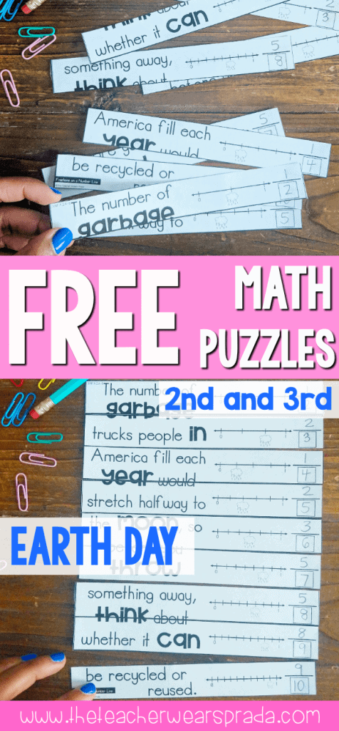 earth day activities and free math puzzles