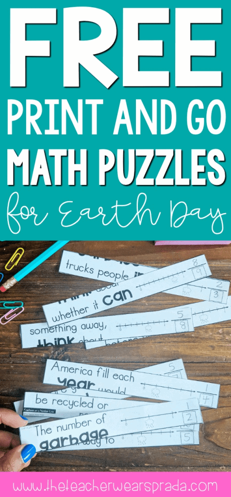 earth day activities and 3rd grade math worksheet