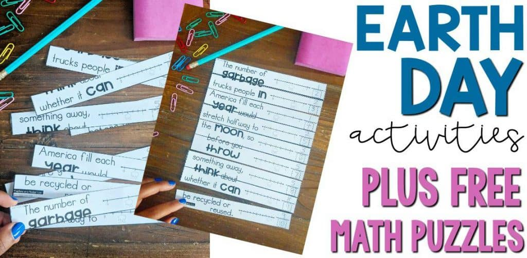 earth day activities and 3rd grade math worksheets