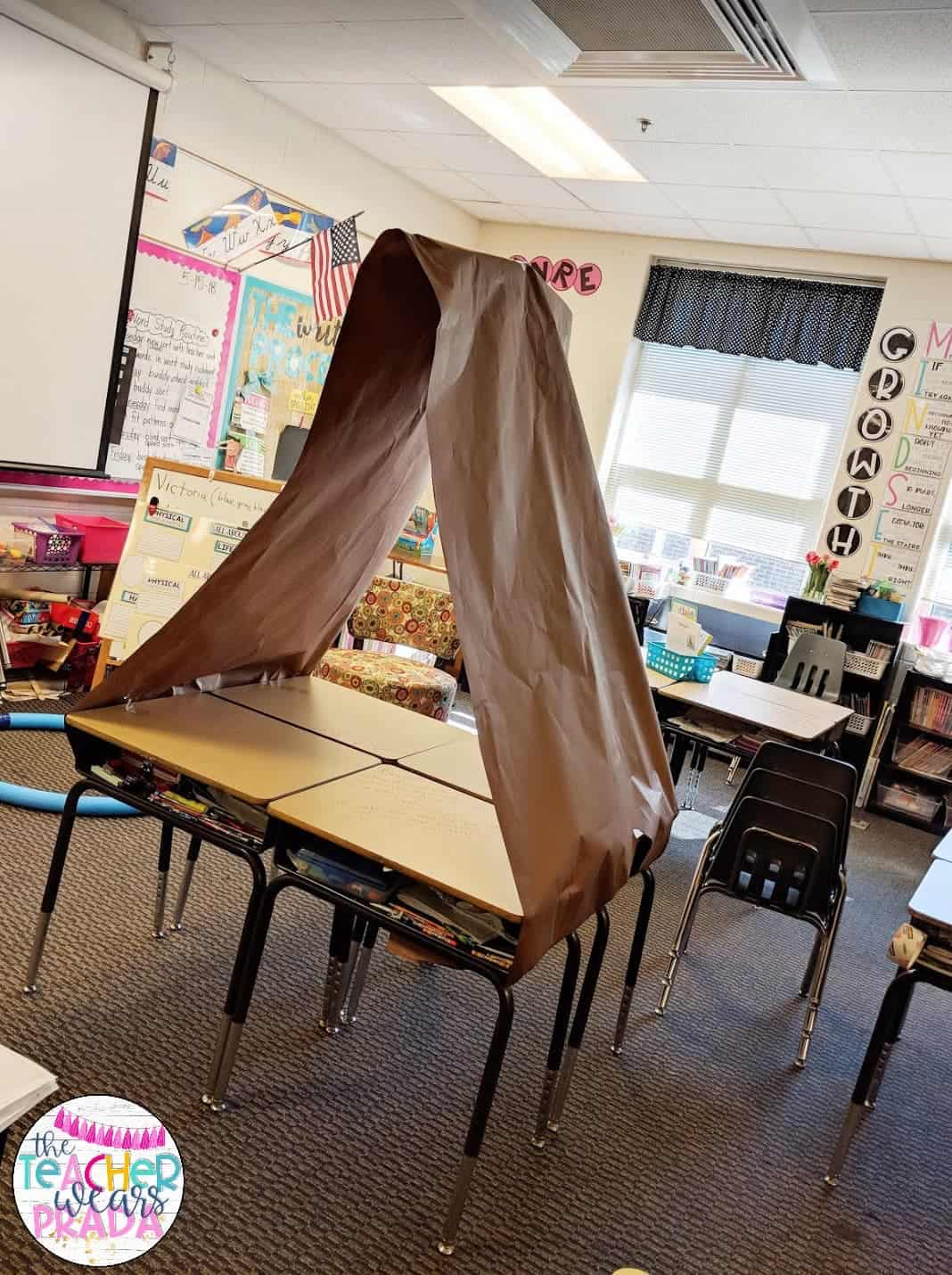 My students engage in various math and reading camping themed classroom activities as one of our end of the school year activities! They loved having their classroom set up as a campsite for the week.