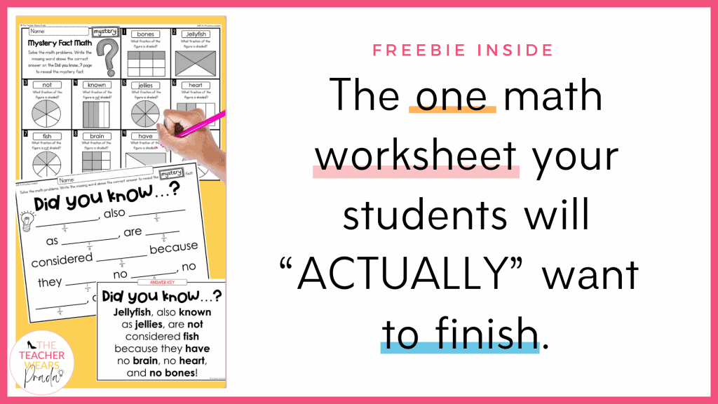 3rd grade math worksheets I use in my classroom